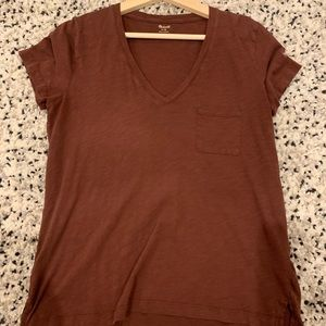 Madewell v-neck tee, size medium
